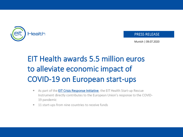 Oxford Endovascular wins support from EIT Health as one of Europe's top start-ups!